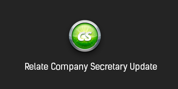 Relate Company Secretary Update